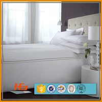 5 stars high quality hotel bedding linen set 100% Natural Pure Cotton Fabric bed Sheet set for hotel