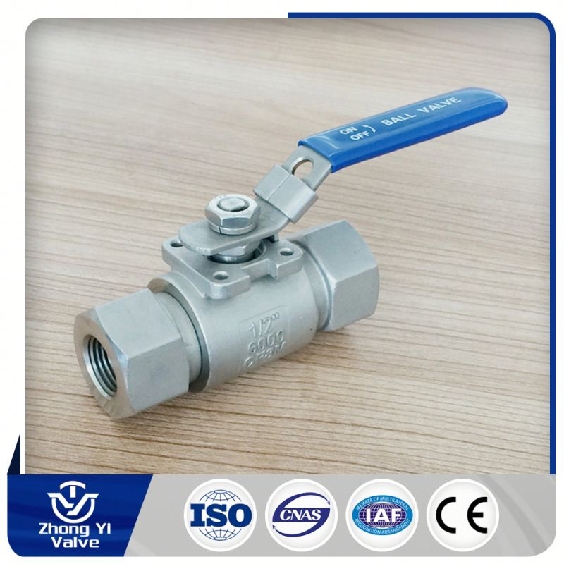 Industry manufacture 1/4 -1/2 inch Dn8-12.5 6000 PSI stainless steel 304 ball valve import from china