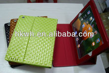 Free shipping high quality magnetic Smart Cover leather Case for ipad 2 and Ipad3