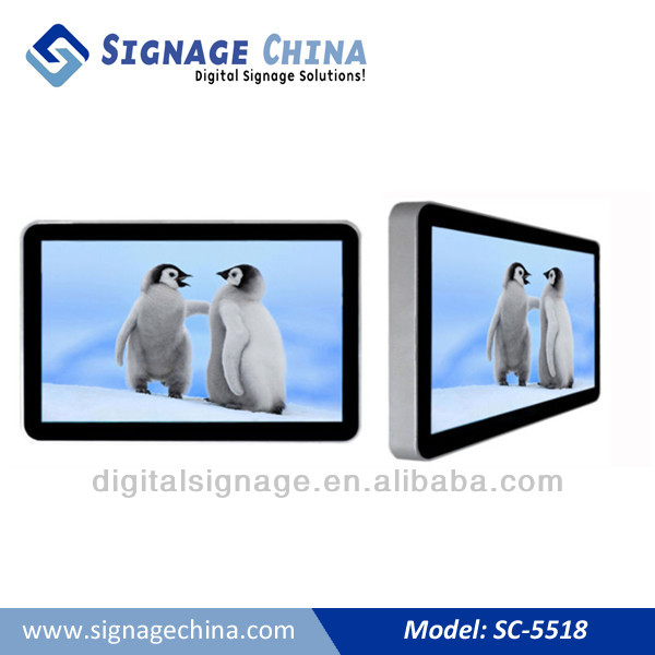 55'' Digital Signage Big Wall Mount LCD Screen for Advertising