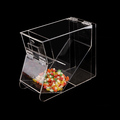 modern cheap plexiglass containers for food, acrylic food container