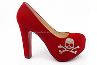 latest New high heel Women party shoes with diamond flower