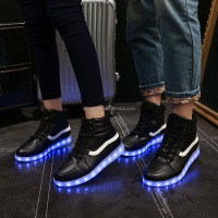 latest hotsale high top casual led sneakers for women