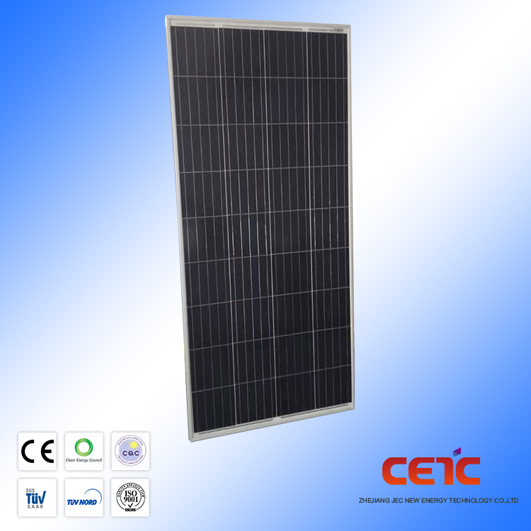 Monocrystalline silicon cell pv module 140w poly solar panel for solar system