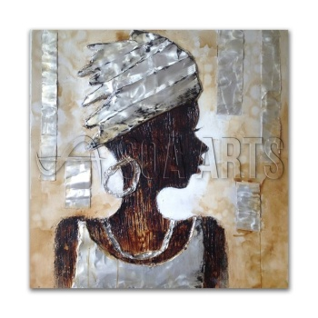 3D Mixed Media Acrylic African oil paintings