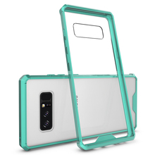 China Manufacturer Mobile Phone TPU+PC Hybrid / Combo Transparent Shockproof Cover For Samsung Galaxy Note 8