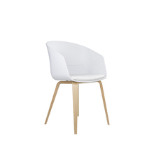 China New Designs Furniture White Solid Wood Dining Chair Restaurant