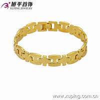 73541-xuping new products wholesale copper14k gold plated men bracelet