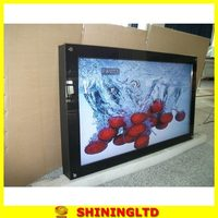 wall mounted high clear image wall hanging lcd led advertising display
