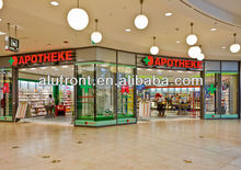 Glass automatic sliding door for shop front