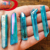 Blue Aqua Aura Crystal Quartz Point