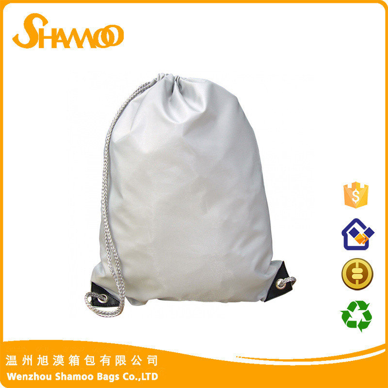 Wholesale promotion cotton fabric drawstring gym and shoe bag