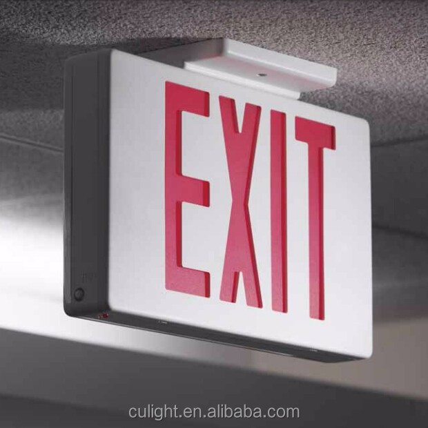 Modern Battery Backup Emergency Safety Lights LED green Emergency Exit Sign made in china