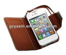 Size 100% Fit Confirmed tested with REAL Phone,Pu Style Genuine Real leather wallet Case for iPhone 4