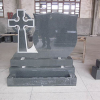 Low Cost Polished Cross Granite Tombstone