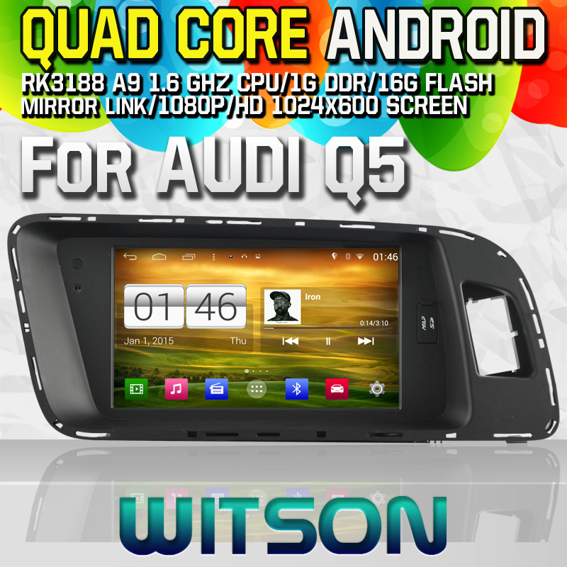 Witson S160 Android 4.4 Car DVD GPS For AUDI Q5 with Quad Core Rockchip 3188 1080P 16g ROM WiFi