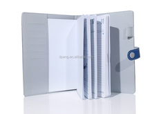 New arrivel embossed logos mall size business card holder with notepad