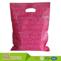 Factory Wholesale Price Fashionable Design LDPE Die Cut Plastic Shopping Bag for Sale