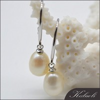 Antique 925 silver real natural drop pearl earring jewelry design