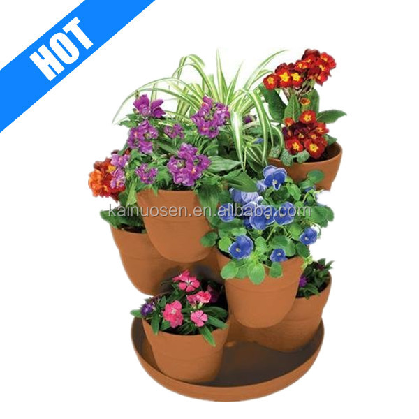 personalized ceramic multi color stacking planter for sale