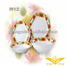 24PCS ceramic porcelain dinnerware set with decal products portuguese ceramic dinnerware