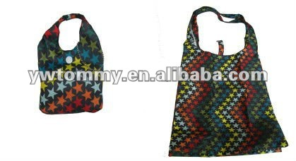 2013 Best Selling Cheap Price Folding PVC Shopping Bag With Star Printings