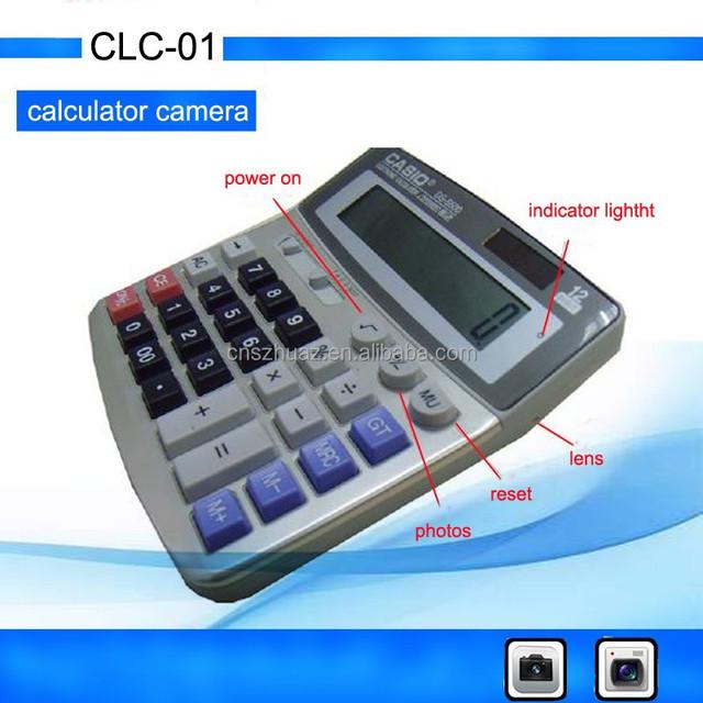 Digital Calculator camera SpyCam Built-in 4GB Memory 12 digit display DV digital DVR 720*480