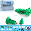 64GB Soft PVC screw bolt shaped usb flash drive gift 100% real capacity usb flash disk memory USB 2.0 with key chain