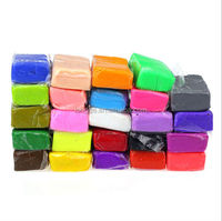 2014 New Arrival 24pcs Malleable Fimo Polymer Modelling Soft Clay Blocks Plasticine DIY