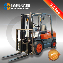 Smooth paint rust 3.5 tons of diesel forklift truck