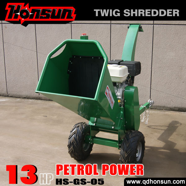 With 2 years warranty advanced gardener use small mobile wood chipper machine