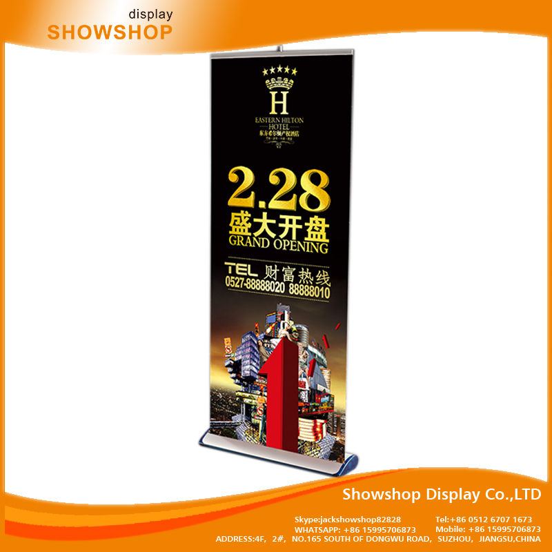 digital roll up banner stand China manufacturer