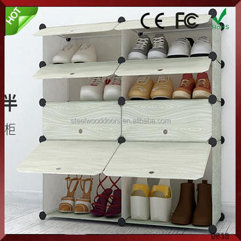 Modern fashionable DIY plastic shoe rack