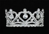 Baby Mini Crown Heart Crystal Full Circle Round Mini Tiara CT1761