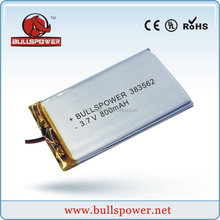 Li-ion battery 7.4v 3.7v 800mah bluetooth battery pack