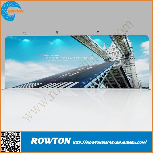 Exibition aluminum display rack tension fabric frame fabric display