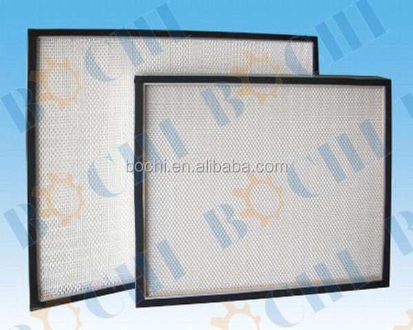 Hepa Efficiency Aluminum Alloy Metal Mini-Pleat Air Filter