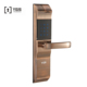 English voice electronic digital fingerprint door lock in handle both ways for mansion