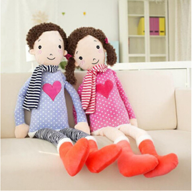 extra large love heart cuddly dolls handsome boy pretty girl plush toy