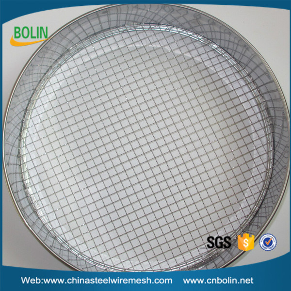 "3.5 mesh 12"" 5.6 mm opening size 1.6mm wire diameter USA standard stainless steel testing sieve (free sample)"