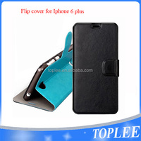 hot sale PU leather flip cover for iphone 6 plus case