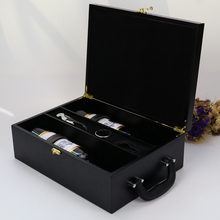 Clients Customized Wholesale Double Packing Wine Box Wood Painting Box Case