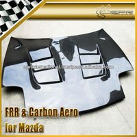 For Mazda RX7 FD3S RE Style Vented Carbon Hood Bonnet