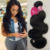 Wholesale Brazillian Body Wave Virgin Human Hair Extensions Natural Black Color Cheap Price