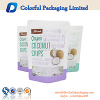 500g 300g laminated printed packaging plastic bags for snacks packaging stand up bag with window