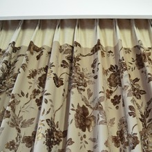 Wholesale window curtain Luxury Motorized jacquard curtains and drapes fabric