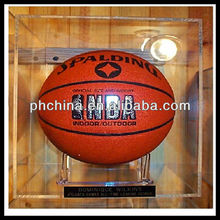 New High Cast Sheet Transparent basketball display stand/basketball display rack/acrylic rugby display case