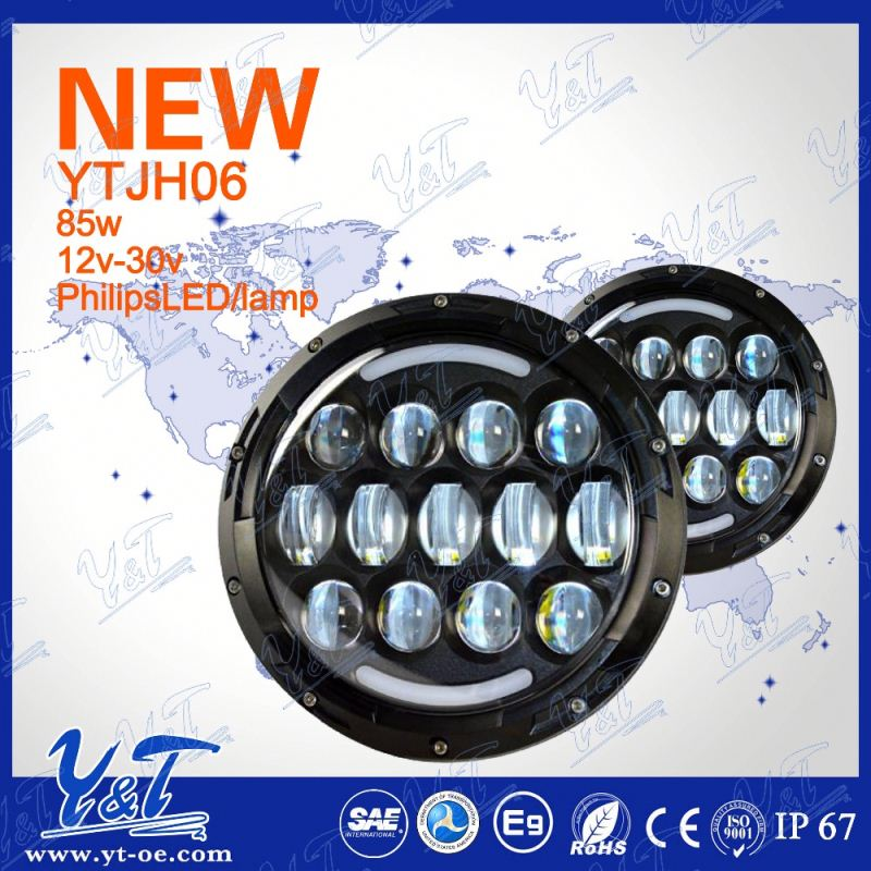 Only Y&T CE&ROHS Certification motorcycle headlight electric car led light