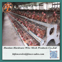Hot dipped galvanized chicken breeding cages