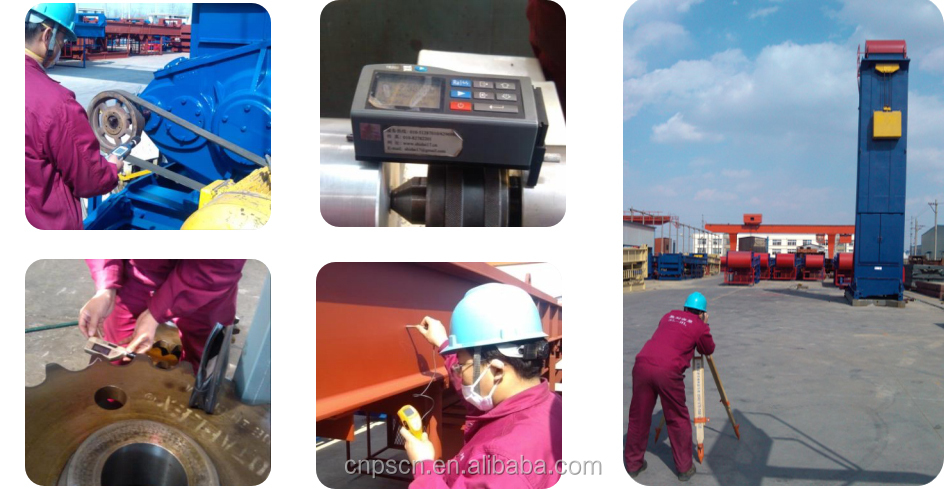 API belt pumping unit testing and inspection before shipping